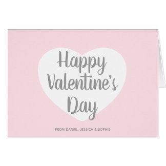Pink Happy Valentine's Day Script Card