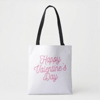 Pink Happy Valentine's Day | Tote Bag