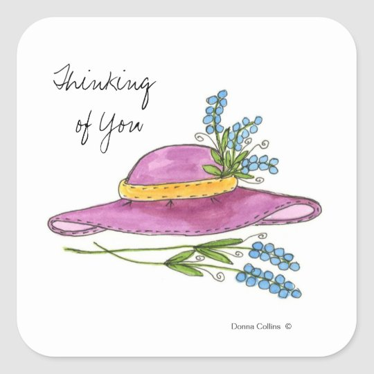 Pink Hat Thinking of You Sticker