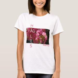 """Pink """"HAULTS"""" Crepe Myrtle Autism T-shirt"""