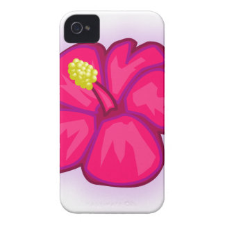 Pink Hawaii Flower iPhone 4 Cases