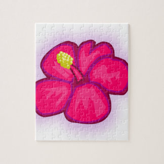 Pink Hawaii Flower Jigsaw Puzzle