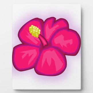 Pink Hawaii Flower Plaque