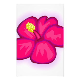 Pink Hawaii Flower Stationery