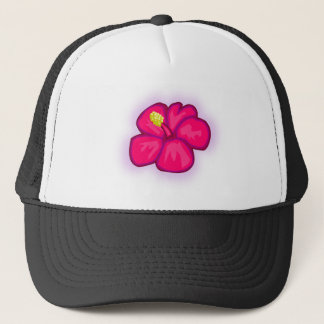 Pink Hawaii Flower Trucker Hat