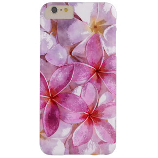 Pink Hawaiian Plumeria Flower Watercolor Painting Barely There iPhone 6 Plus Case