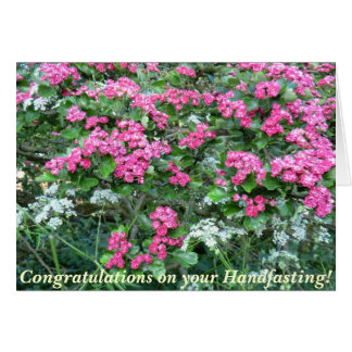 Pink Hawthorn Pagan Wedding Card