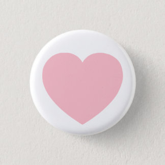 Pink Heart 1 Inch Round Button