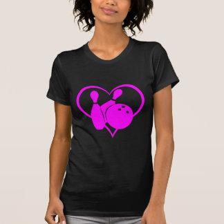 Pink heart bowling T-Shirt