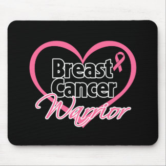 Pink Heart Breast Cancer Warrior Mousepad