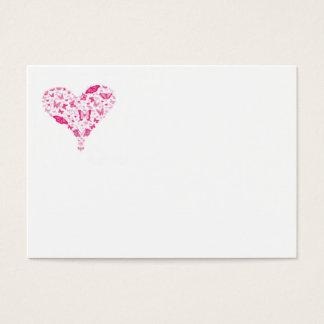 pink heart business card