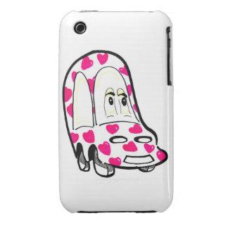 Pink Heart Car  iPhone 4 Case Tough