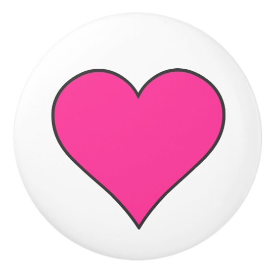 Pink Heart/Ceramic Knob Ceramic Knob