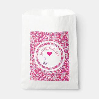 Pink Heart Confetti Valentine Goodies Favour Bag