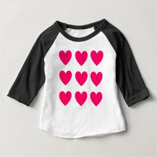Pink Heart Design Baby T-Shirt
