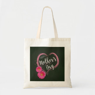 Pink Heart Flowers Mother's Day - Budget Tote