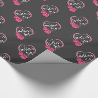 Pink Heart Flowers Mother's Day - Wrapping Paper