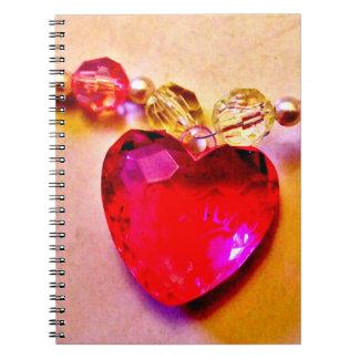 Pink Heart Gem Notebooks