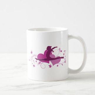 Pink Heart Gymnastics Leap Coffee Mug