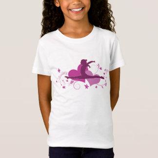 Pink Heart Gymnastics Leap T-Shirt