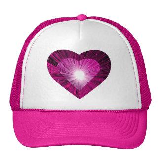 Pink Heart 'heart' trucker hat pink