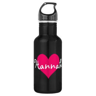 Pink Heart I Love Hannah