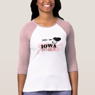 Pink Heart Iowa T-Shirt