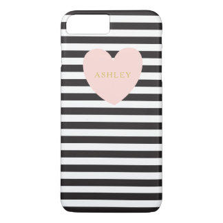 Pink Heart iPhone 7+ Case Personalized