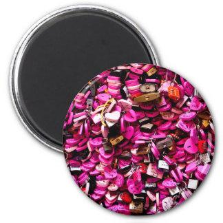 Pink Heart Locks Magnet