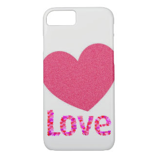 pink heart love iphone case