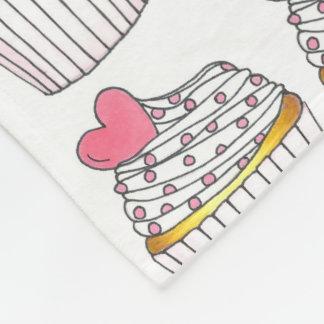 Pink Heart Love Valentine's Day Cupcake Blanket