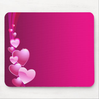 pink heart mouse pad