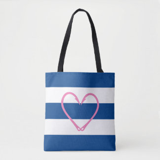 PINK HEART NAUTICAL BAG