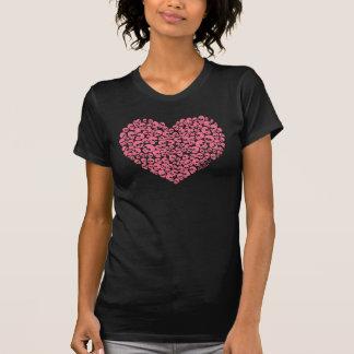 Pink Heart of Skulls T-Shirt
