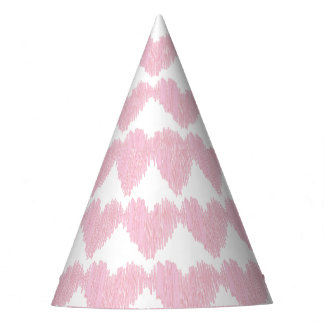 Pink heart party hat