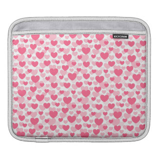 Pink heart pattern iPad sleeve