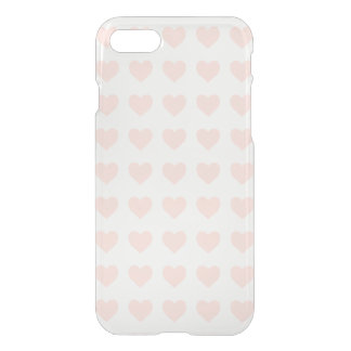 Pink heart pattern iPhone 7 case