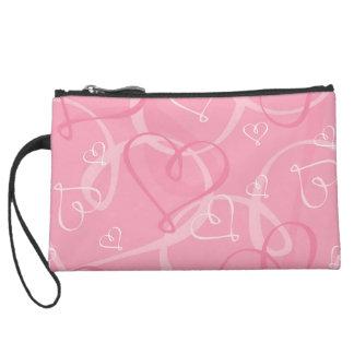 Pink heart pattern wristlets