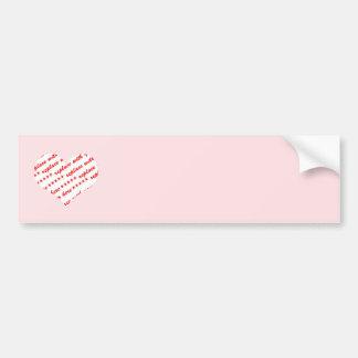 Pink Heart Photo Frame Bumper Sticker