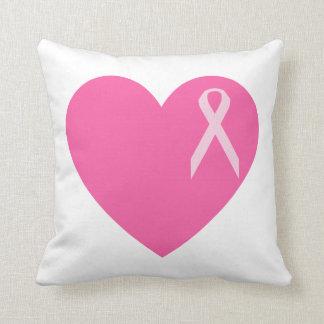 Pink Heart Ribbon Pillow