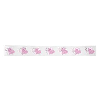 Pink Heart Ribbon Satin Ribbon