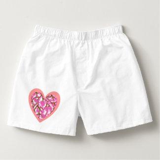 Pink Heart & Sakura Blossom Short Boxers