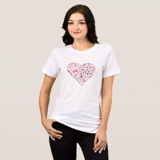 Pink Heart-Shaped Music Notes Women's T-Shirt