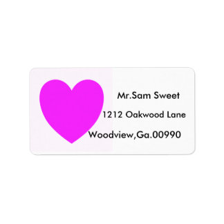 PINK HEART, shipping lables Label