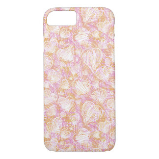 Pink Heart Sketch iPhone 7 Case