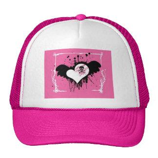 Pink Heart/Skull Ball Cap Trucker Hat