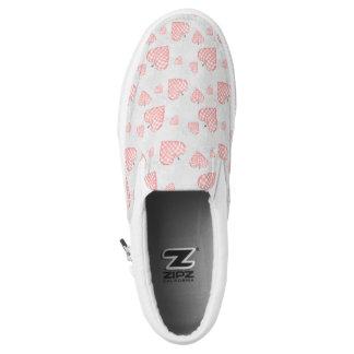 Pink Heart Slip-On Sneakers