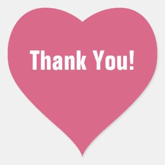Pink Heart Thank You Sticker