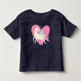 Pink Heart Unicorn Toddler T-shirt