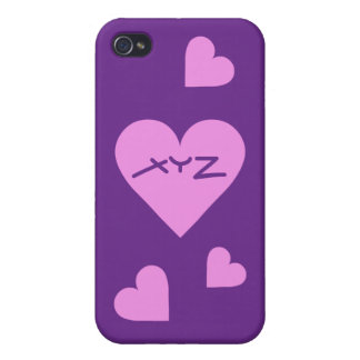Pink Heart Valentine custom cases iPhone 4 Covers